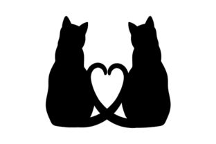 Cats in Love Animals Craft Cut File By Creative Fabrica Crafts