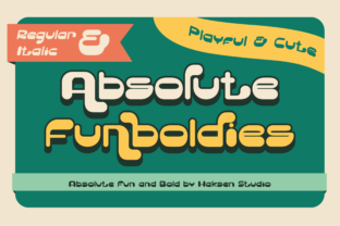 Print on Demand: Absolute Funboldies Display Font By Haksen