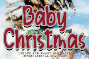 Print on Demand: Baby Christmas Display Font By giartstudios