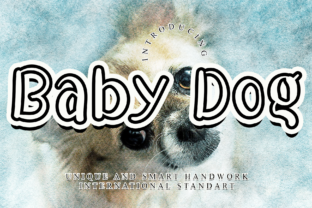 Print on Demand: Baby Dog Display Font By giartstudios