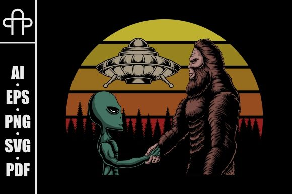 Print on Demand: Bigfoot and Alien Conspiracy Graphic Illustrations By Andypp
