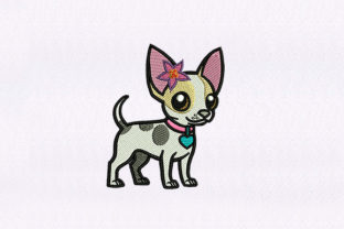 Chihuahua Dog Design Dogs Embroidery Design By DigitEMB