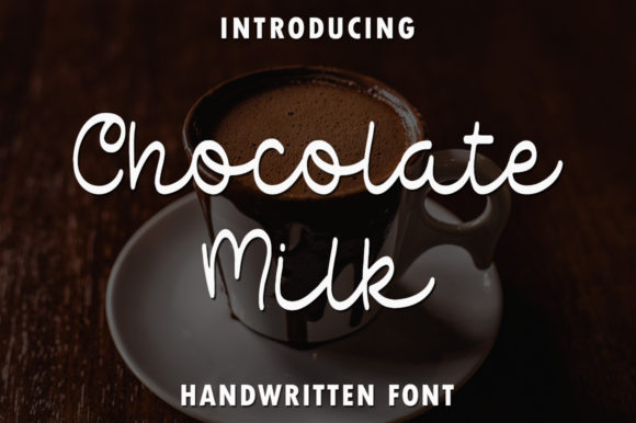 Print on Demand: Chocolate Milk Manuscrita Fuente Por rangkaiaksara