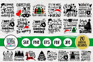 Print on Demand: Christmas SVG Bundle Graphic Crafts By nibaartstudio