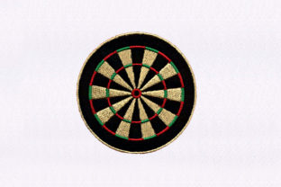 Dartboard Design Toys & Games Embroidery Design By DigitEMB
