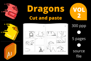 Print on Demand: Dragon Cut and Paste Volume 2 Graphic 1st grade By Dunkyshot