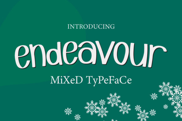 Print on Demand: Endeavour Display Font By Crafty Files