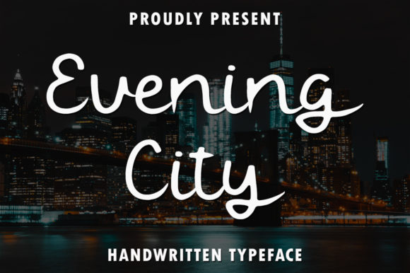 Print on Demand: Evening City Script & Handwritten Font By rangkaiaksara