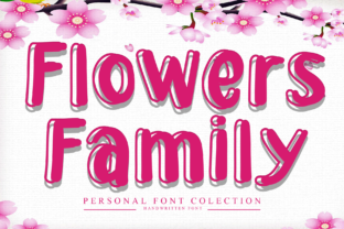 Print on Demand: Flowers Family Display Font By giartstudios