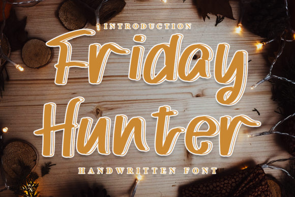 Print on Demand: Friday Hunter Script & Handwritten Font By NYA Letter