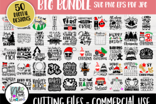 Print on Demand: Funny Christmas SVG Bundle, Svg Cut File Graphic Crafts By nibaartstudio