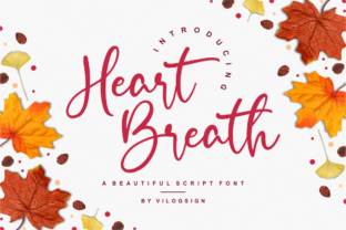 Print on Demand: Heart Breath Script & Handwritten Font By Vilogsign