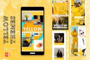 Instagram Story Template - Yellow Graphic Graphic Templates By 57creative