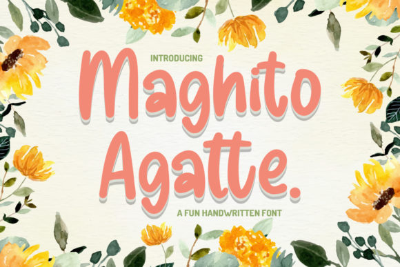 Print on Demand: Maghito Agatte Script & Handwritten Font By Typefar