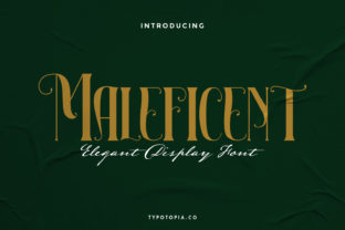 Print on Demand: Maleficent Display Font By typotopia