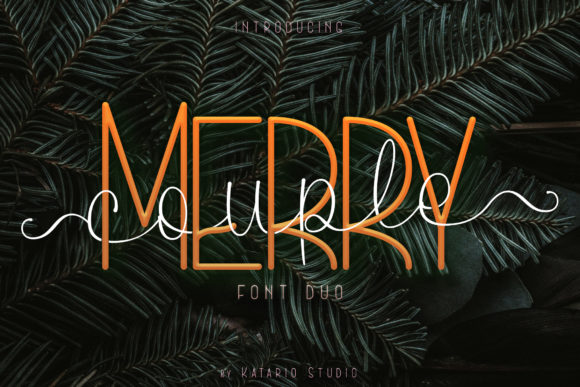 Print on Demand: Merry Couple Script & Handwritten Font By Katario Studio