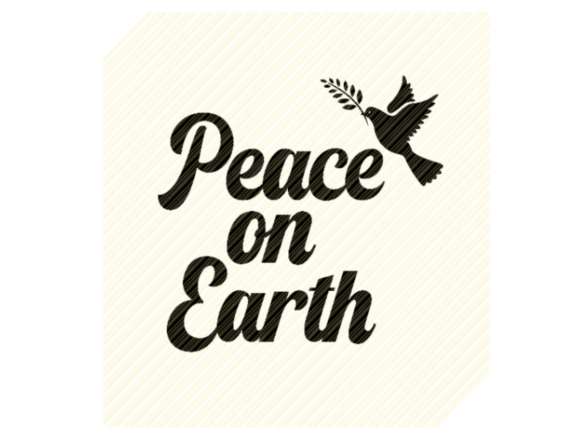 Print on Demand: Peace on Earth Christmas Sign Graphic Graphic Crafts By SVGPlaceDesign