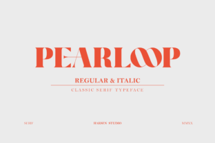 Print on Demand: Pearloop Serif Font By Haksen