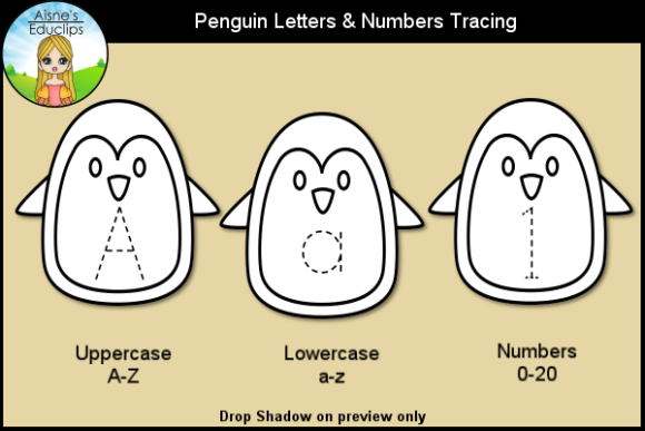 Print on Demand: Penguin Letters & Numbers Tracing Graphic Teaching Materials By Aisne Educlips