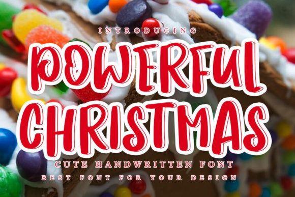 Print on Demand: Powerful Christmas Display Font By NYA Letter