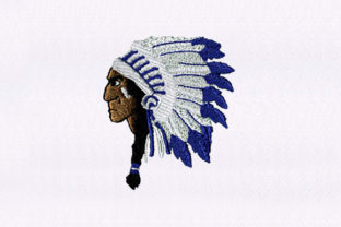 Regal Chief Native Design Africa Embroidery Design By DigitEMB