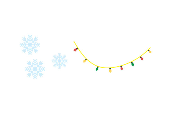Snow and Light Decor Christmas Vector Graphic Illustrations By wiwasatastudio
