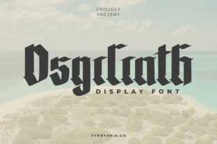 Print on Demand: The Osgiliath Blackletter Font By typotopia
