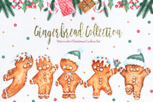 Print on Demand: Watercolor Gingerbread Collection Graphic Illustrations By tanatadesign