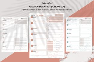 Print on Demand: Weekly Happy Planner KDP Interiors Graphic KDP Interiors By Twin Flame Journey into the unknown