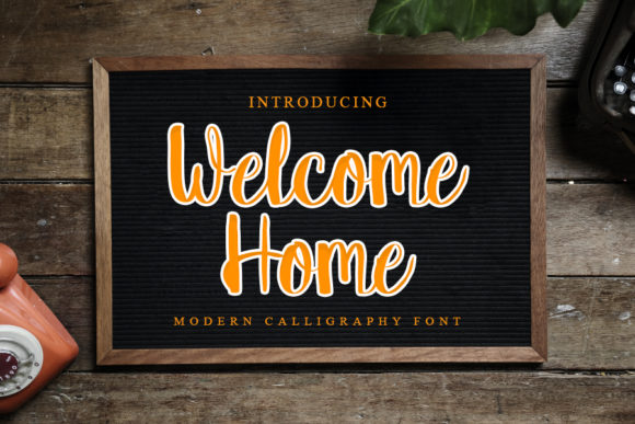 Print on Demand: Welcome Home Script & Handwritten Font By mizanstudio
