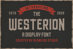 Print on Demand: Westerion Display Font By Blankids Studio