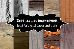 Print on Demand: Wood Texture Backgrounds Graphic Textures By A Design in Time
