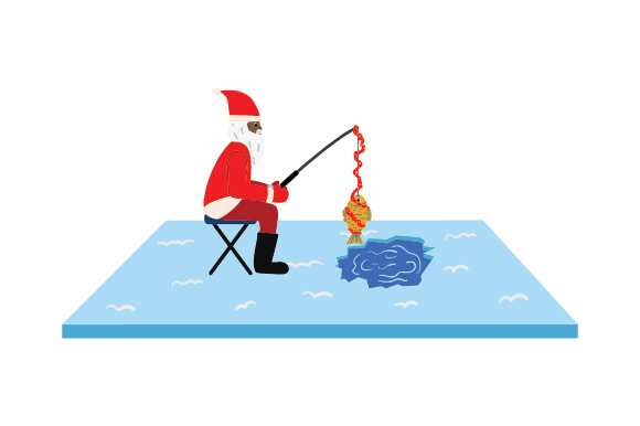 Download Download Santa Goes Ice Fishing Svg File High Quality Free Svg Files
