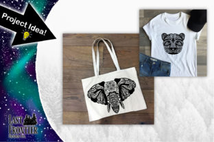 African Animal Mandalas Graphic Crafts By Last Frontier Design Co.