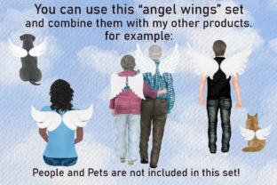 Print on Demand: Angel Wings Clipart Halo Clipart Haven Graphic Illustrations By LeCoqDesign 1