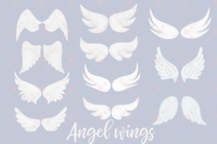 Print on Demand: Angel Wings Clipart Halo Clipart Haven Graphic Illustrations By LeCoqDesign 3