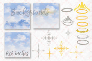 Print on Demand: Angel Wings Clipart Halo Clipart Haven Graphic Illustrations By LeCoqDesign 4