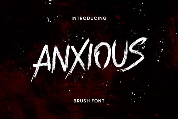 Print on Demand: Anxious Display Font By Maulana Creative