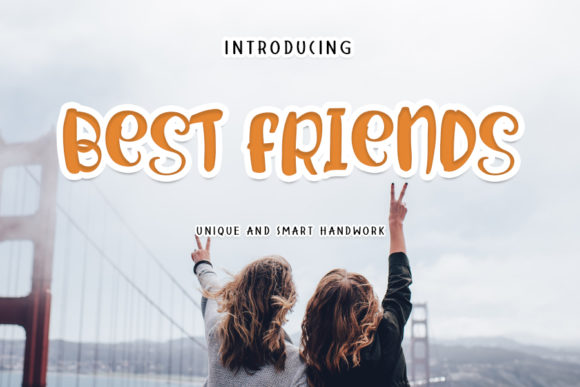 Print on Demand: Best Friends Display Font By shiddiq.art