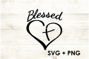 Print on Demand: Blessed Heart Jesus Christian Graphic Print Templates By Too Sweet Inc