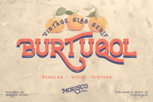 Print on Demand: Burtuqol Slab Serif Font By Morisco Studio