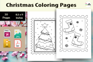 Print on Demand: Christmas Coloring Page-KDP Graphic Coloring Pages & Books Kids By Sei Ripan