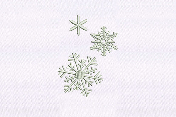 Crystalized Snowflakes Design Winter Embroidery Design By DigitEMB
