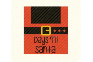Print on Demand: Days 'Til Santa Christmas Sign Graphic Graphic Crafts By SVGPlaceDesign
