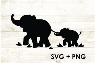 Print on Demand: Elephant and Kid Clipart Vector Graphic Print Templates By Too Sweet Inc