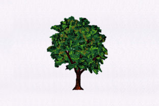 Evergreen Tree Design Forest & Trees Embroidery Design By DigitEMB