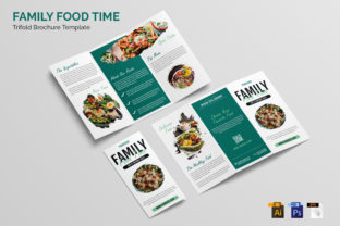 Family Food Time | Trifold Brochure Graphic Print Templates By Gumacreative