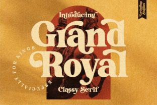 Print on Demand: Grand Royal Serif Font By letterenastudios