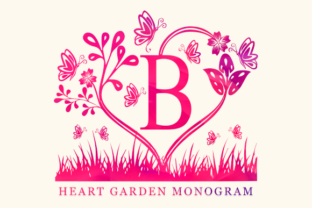Print on Demand: Heart Garden Monogram Decorative Font By utopiabrand19