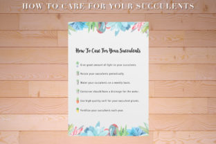 Print on Demand: How to Care for Your Succulents Graphic Print Templates By AscendPrints